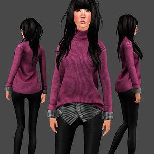 sweater set 3D model