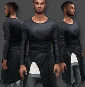 3D male shirt asymmetric model