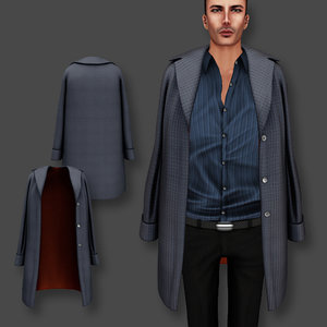 coat shoulders male 3D