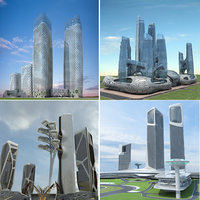 futuristic skyscrapers 7-10 3D model