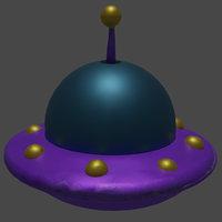 3D model cute ufo