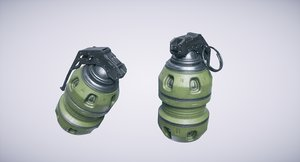 3D grenade lightwave octane model