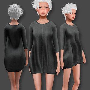 3D sweater dress