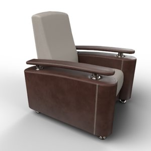 3D armchair furnishings furniture
