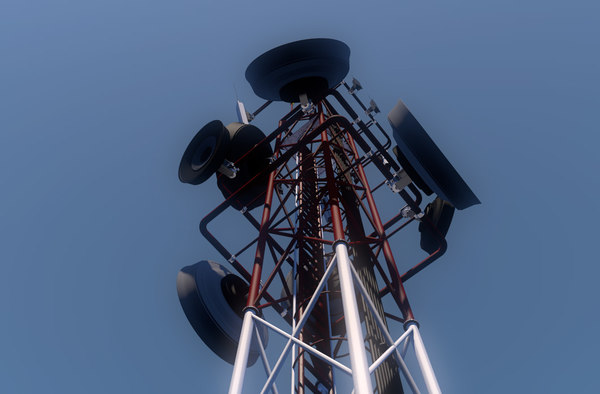 communication tower antennas torre 3D model