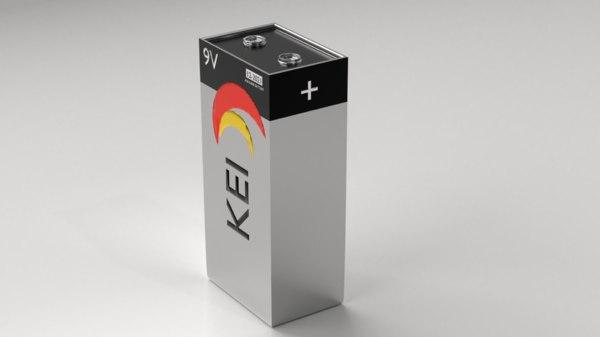 battery 4 - 9v 3D model