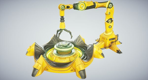adrian sci fi industrial robot 3D model