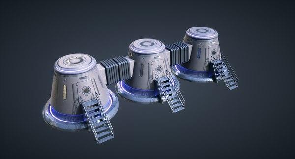 3D mars kitbash - capsule model