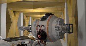 corridor sci fi car 3D model