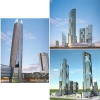 3D cityscape 7-9 model