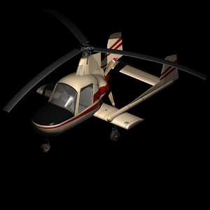 3D mcculloch j2 gyrocopter