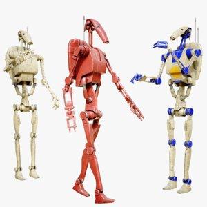 b1 battle droid 3D