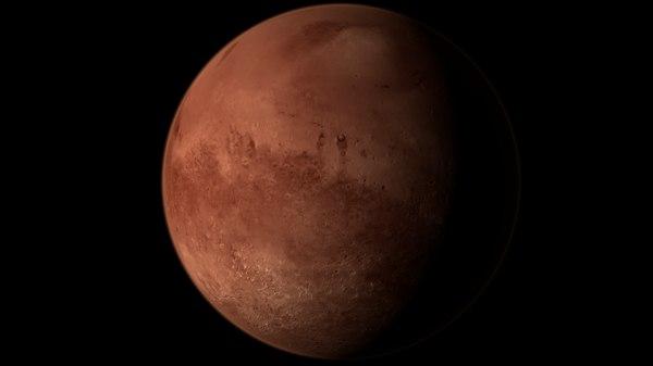 3D model mars 10k planet realistic