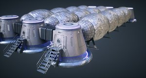 3D model mars kitbash - station