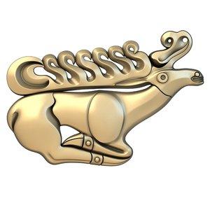 basrelief deer model