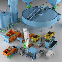 3D coal preparation plant industrial