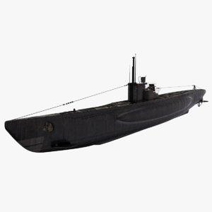 viic u-boat 2 uboat 3D