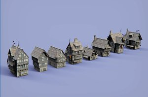 medieval village house 3D model