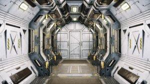 modo sci fi corridor 3D