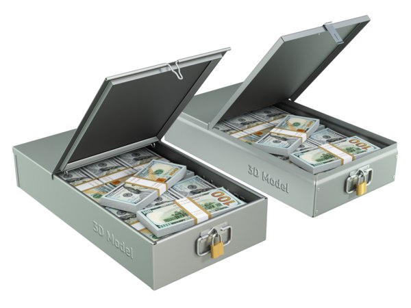 safety deposit box money 3D model
