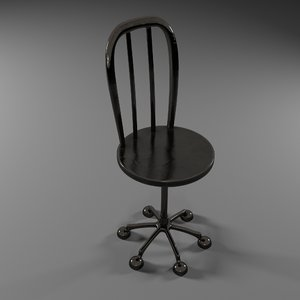metallic chair 3D model