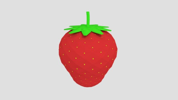 strawberry cartoon art model