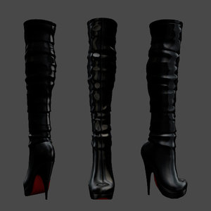 knee boots 3D model