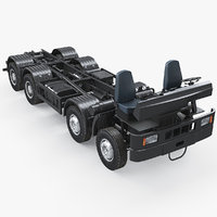 3D truck chassis 8x4 heavy vehicle