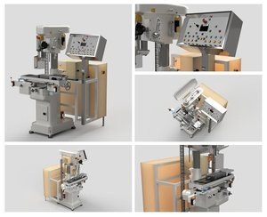 3D cnc milling machine model