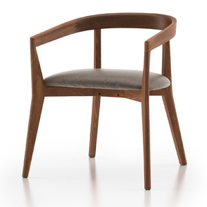 3D model cullen shiitake dining chair