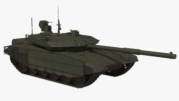 3D t-90 ms green dirt model