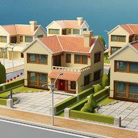 3D cartoon house s