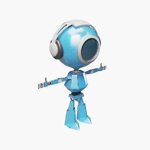 blue robot headphones model