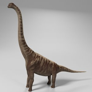 supersaurus dinosaur rigged 3D model