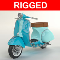 Vespa Scooter Rigged model