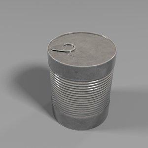 3D model tinned goods