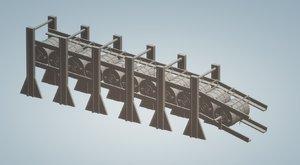 depth charge rack pt 3D model