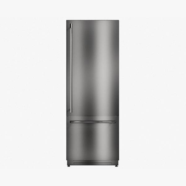 realistic fridge standart 3D model