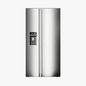 3D model realistic fridge classic doors