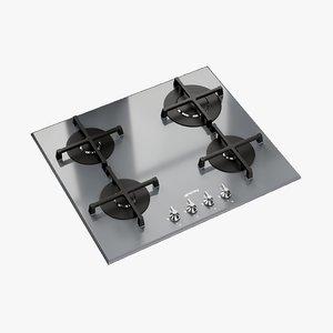 realistic hob linea gas 3D