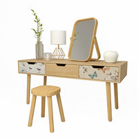 3D candles table mirror chair