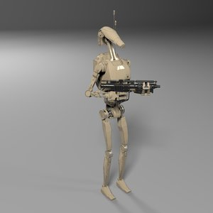 3D battle droid star wars model