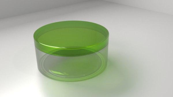 3D model cream container 3