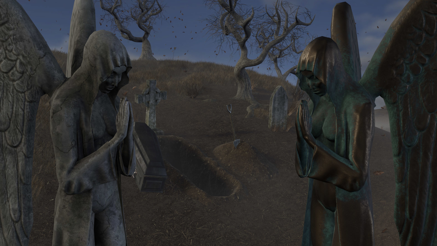 modular cemetery pack pbr 3D model