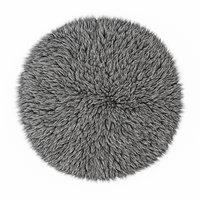 3D wool gray carpet fur