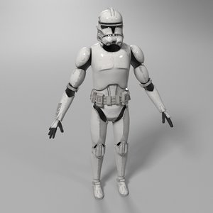 3D clone trooper star wars