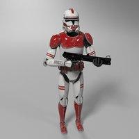 3D clone trooper star wars model