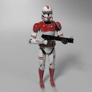 3D clone trooper star wars model