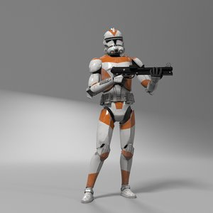 3D model star wars clone trooper