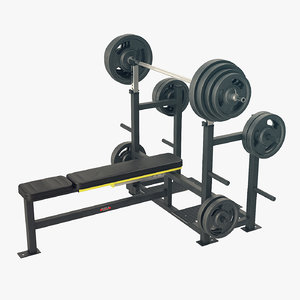 3D bench press model